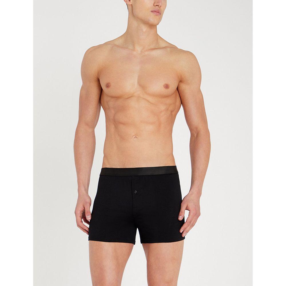 シーディーエルピー cdlp メンズ インナー・下着 ボクサーパンツ【logo slim-fit boxer shorts】Black