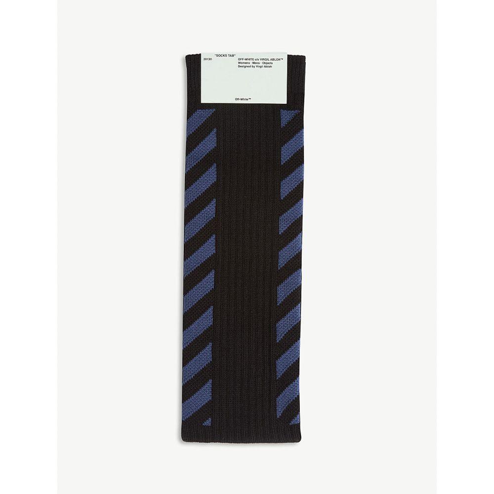 オフホワイト off-white c/o virgil abloh メンズ インナー・下着 ソックス【diagonal stripe socks】Black