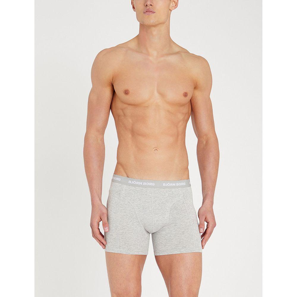ビヨン ボルグ bjorn borg メンズ インナー・下着 ボクサーパンツ【pack of three perfect-fit cotton-jersey boxer briefs】Ceramic