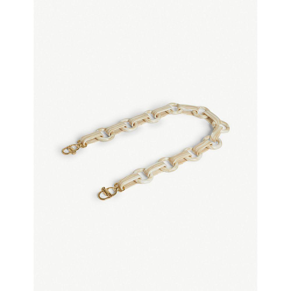 マーククロス mark cross レディース バッグ バッグストラップ【resin chain bag strap 65cm】White