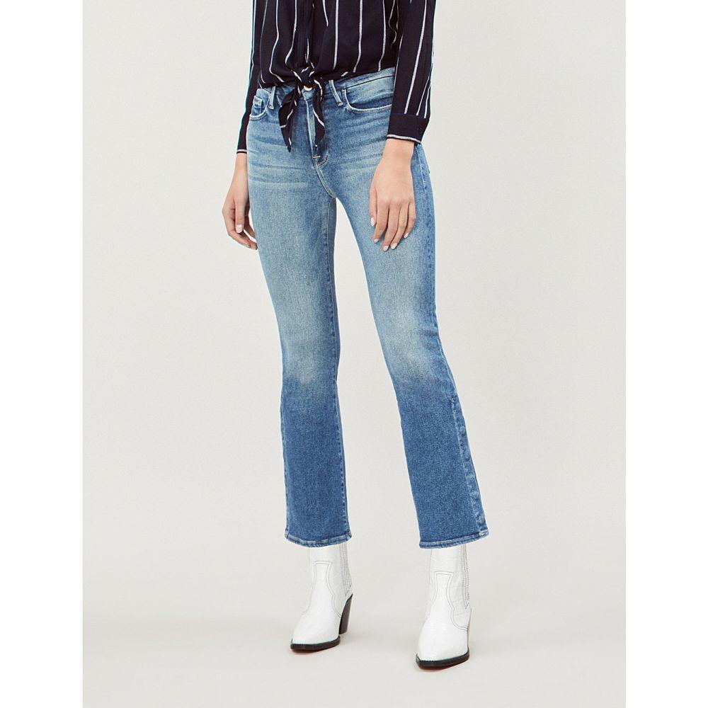 フレーム frame レディース ボトムス・パンツ ジーンズ・デニム【le crop mini mid-rise faded bootcut jeans】Alta pura