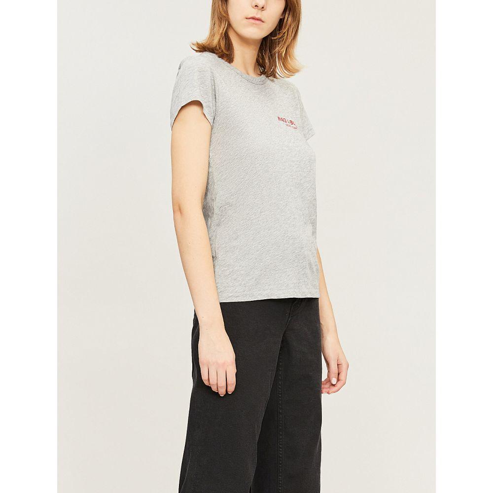ラグ&ボーン rag & bone レディース トップス Tシャツ【logo-print cotton-jersey t-shirt】Heather grey