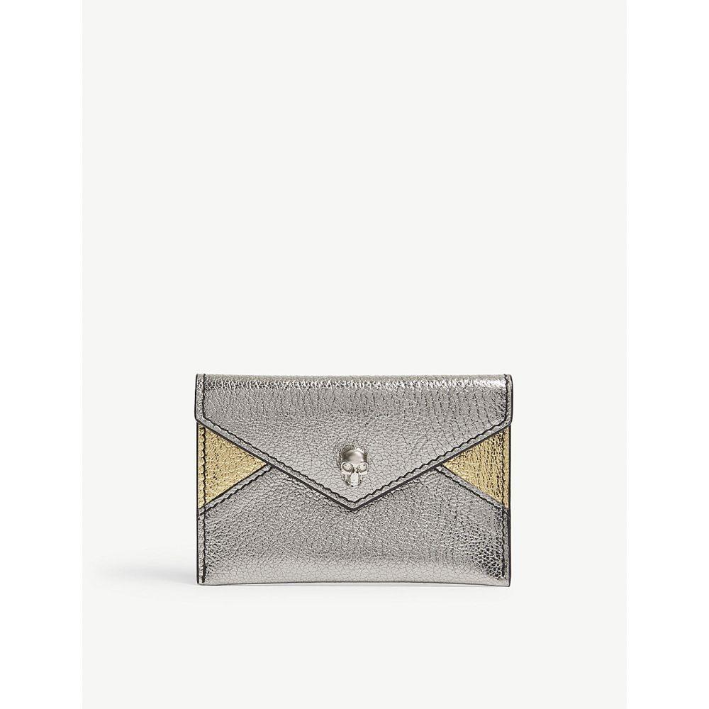アレキサンダー マックイーン alexander mcqueen レディース カードケース・名刺入れ【leather envelope card holder】Gold/silver