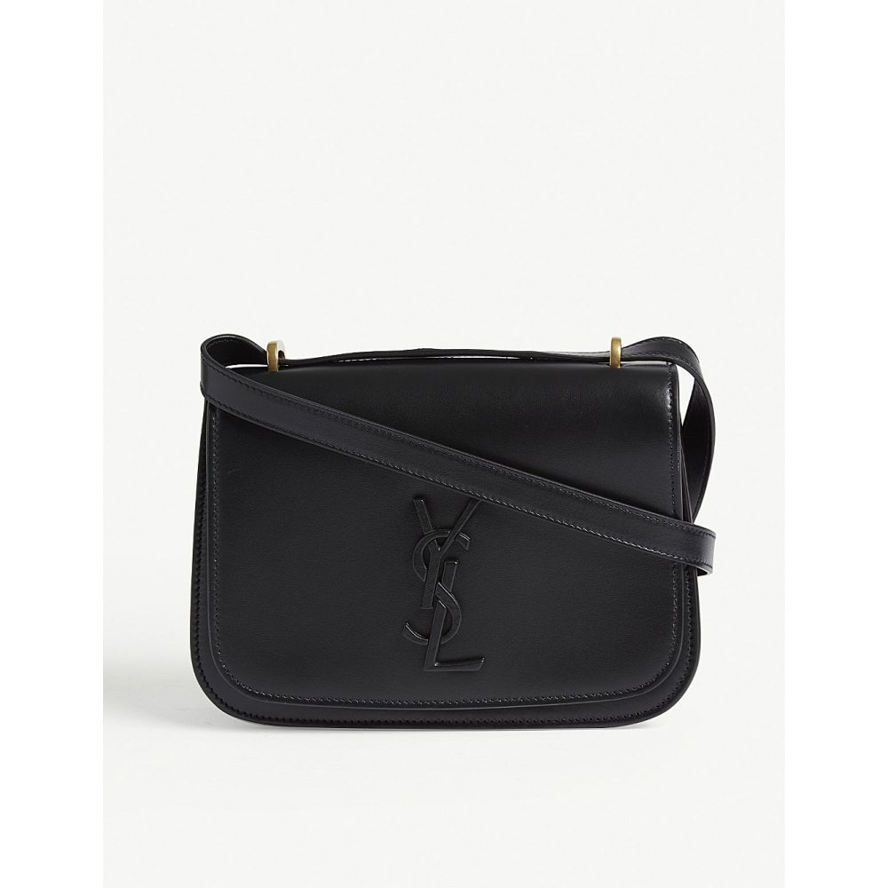 イヴ サンローラン saint laurent レディース バッグ ショルダーバッグ【spontini small leather satchel】Black
