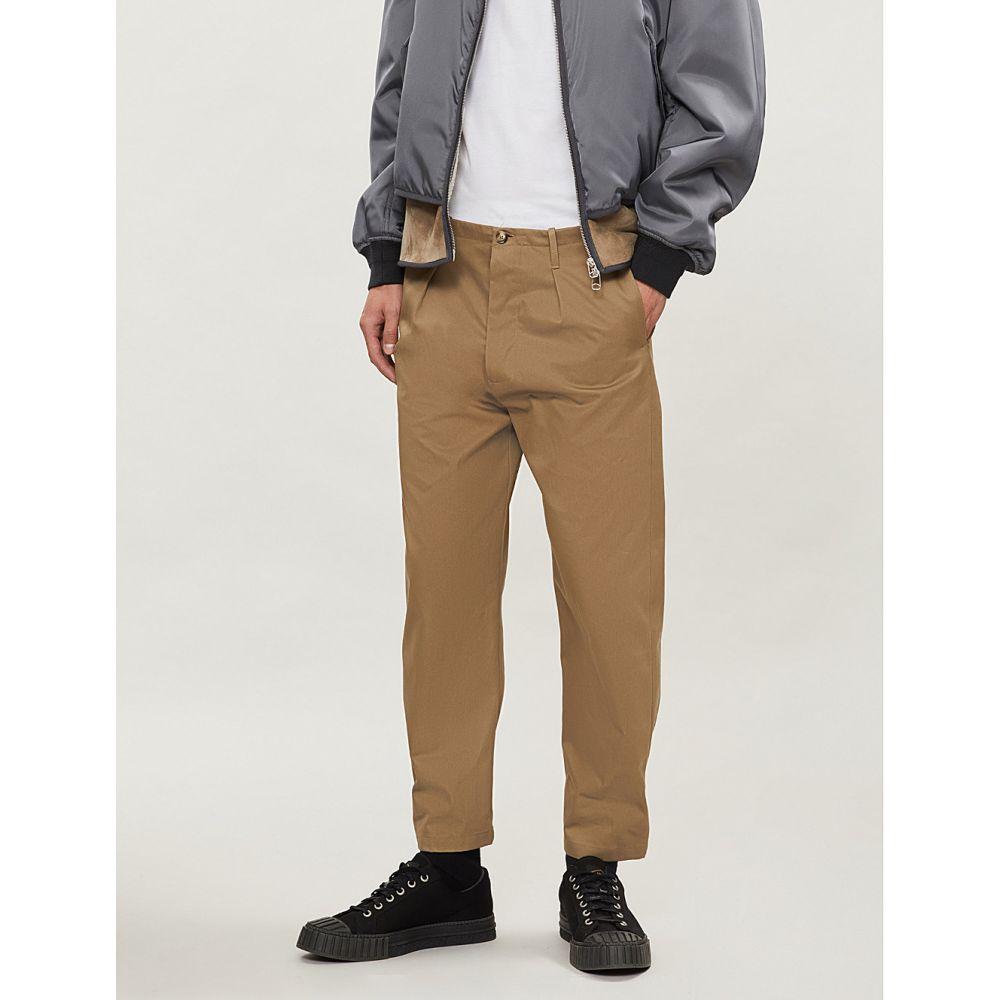 ヴァレンティノ valentino メンズ ボトムス・パンツ【regular-fit straight cotton trousers】Dark duna
