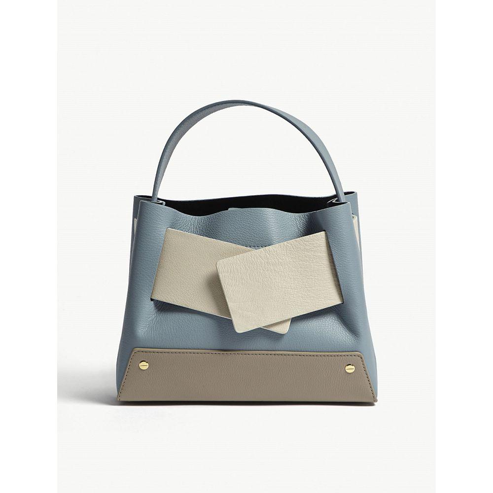 ユゼフィ yuzefi レディース バッグ トートバッグ【biggy colour-block leather tote】Sky/cream