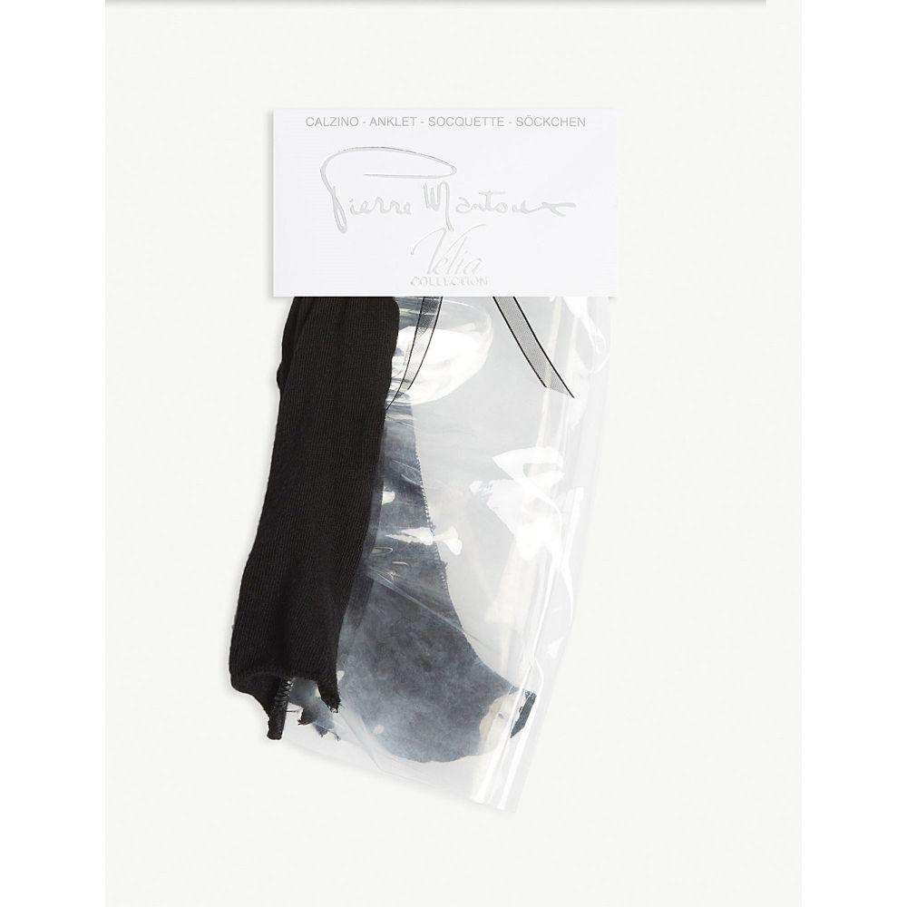 ピエール マントゥー pierre mantoux レディース インナー・下着 ソックス【plastic ankle socks】 nero