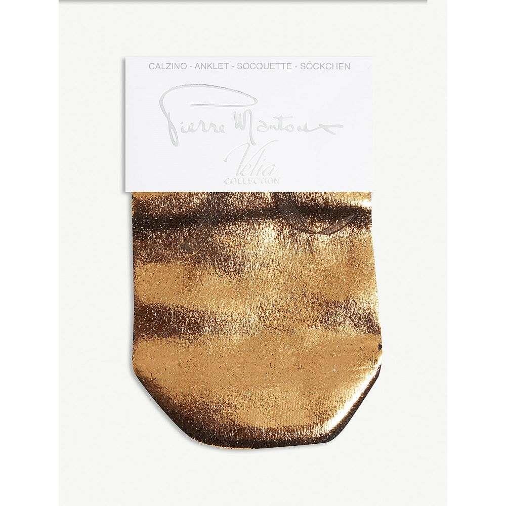 ピエール マントゥー pierre mantoux レディース インナー・下着 ソックス【shine sock】 bronzo