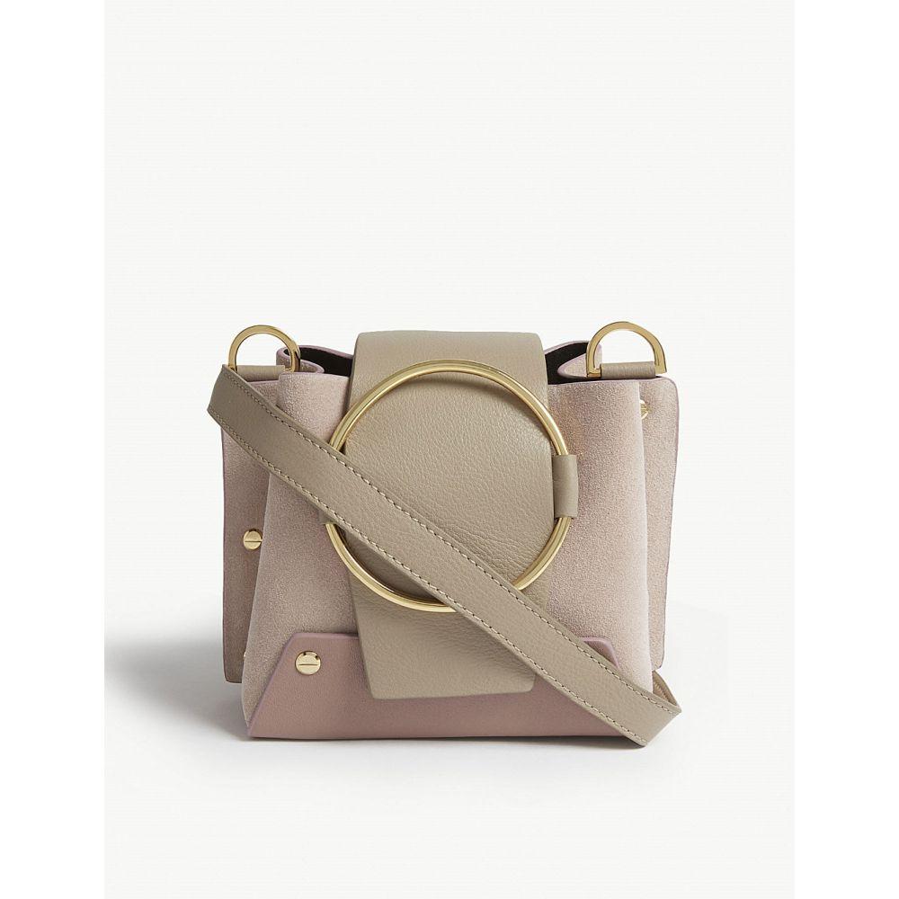 ユゼフィ yuzefi レディース バッグ ショルダーバッグ【mini delila leather shoulder bag】Brown rose quartz