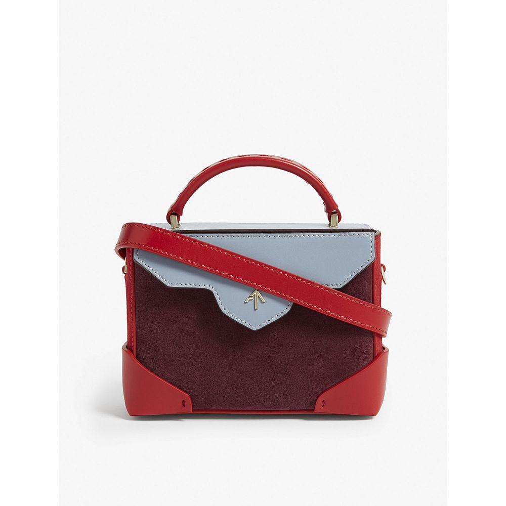 マニュ アトリエ manu atelier レディース バッグ ショルダーバッグ【micro bold leather shoulder bag】Brgndy/red/iceblue