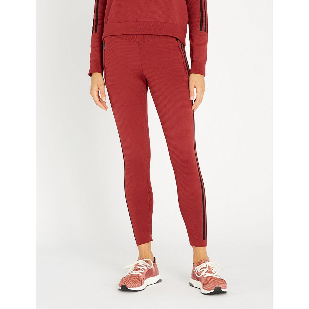 アディダス adidas performance レディース インナー・下着 スパッツ・レギンス【skinny-fit stretch-jersey leggings】Noble maroon f