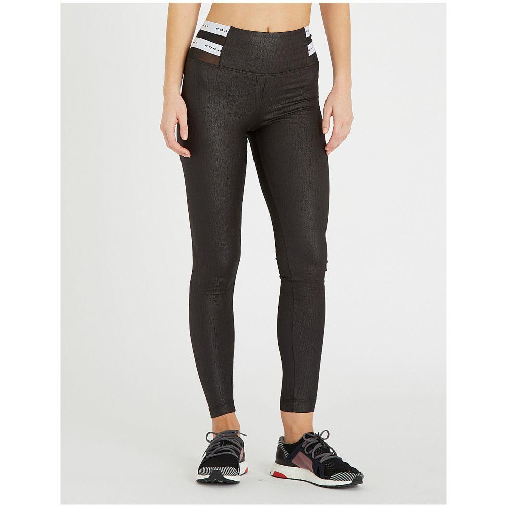 コラール koral レディース インナー・下着 スパッツ・レギンス【obscure coated jersey leggings】Black