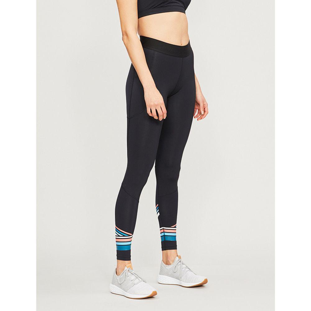 ツータイムズユー 2xu レディース インナー・下着 スパッツ・レギンス【accelerate stretch-jersey compression leggings】Black sherbet teal