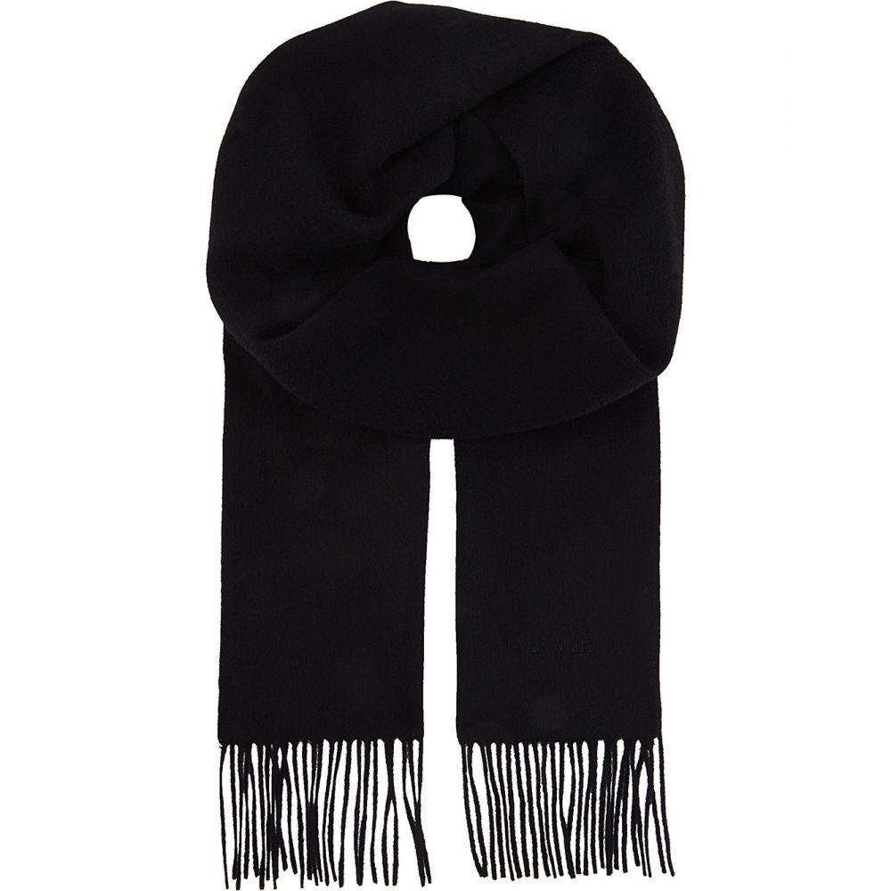 マックスマーラ max mara レディース マフラー・スカーフ・ストール【logo cashmere scarf】Black