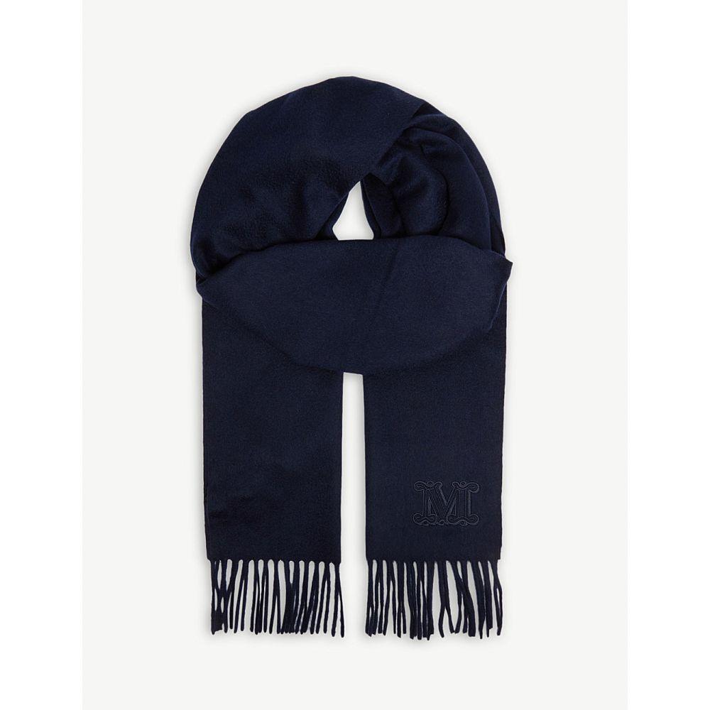 マックスマーラ max mara レディース マフラー・スカーフ・ストール【logo cashmere scarf】Ultramarine