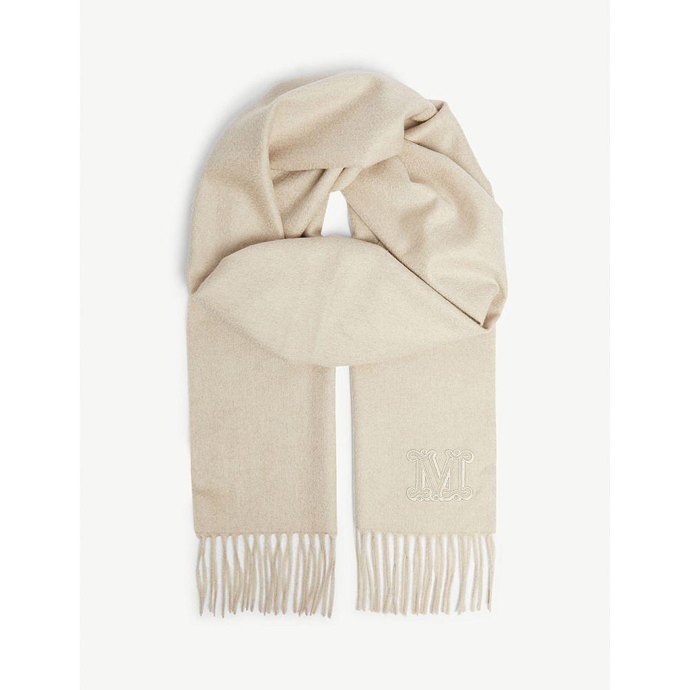 マックスマーラ max mara レディース マフラー・スカーフ・ストール【logo cashmere scarf】Albino