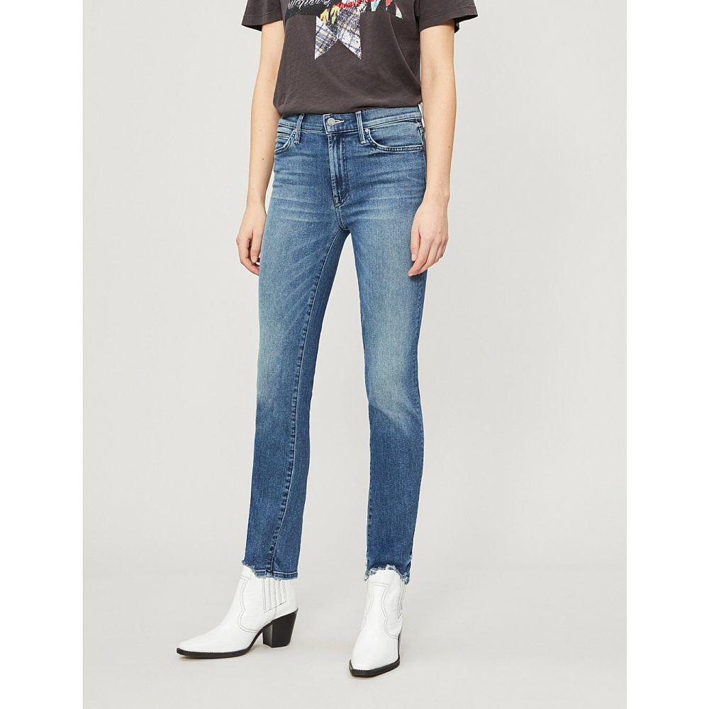 マザー mother レディース ボトムス・パンツ ジーンズ・デニム【the rascal ankle chew frayed mid-rise slim-fit jeans】The ones we used to know