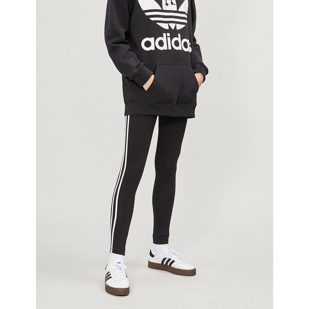 アディダス adidas originals レディース インナー・下着 スパッツ・レギンス【3-stripes stretch-cotton jogging leggings】Black