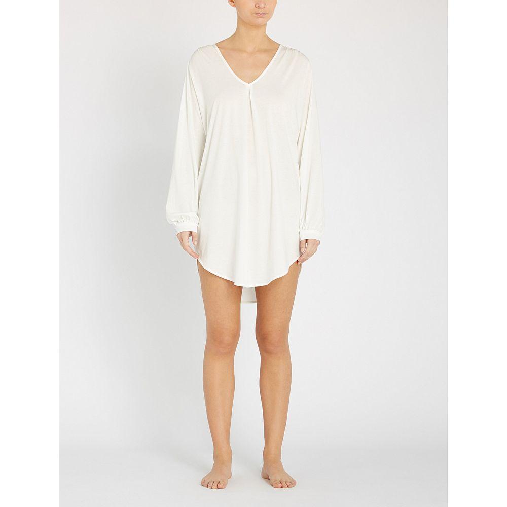 スキン skin レディース インナー・下着 パジャマ・トップのみ【justine cotton-jersey pyjama sleep shirt】Coconut