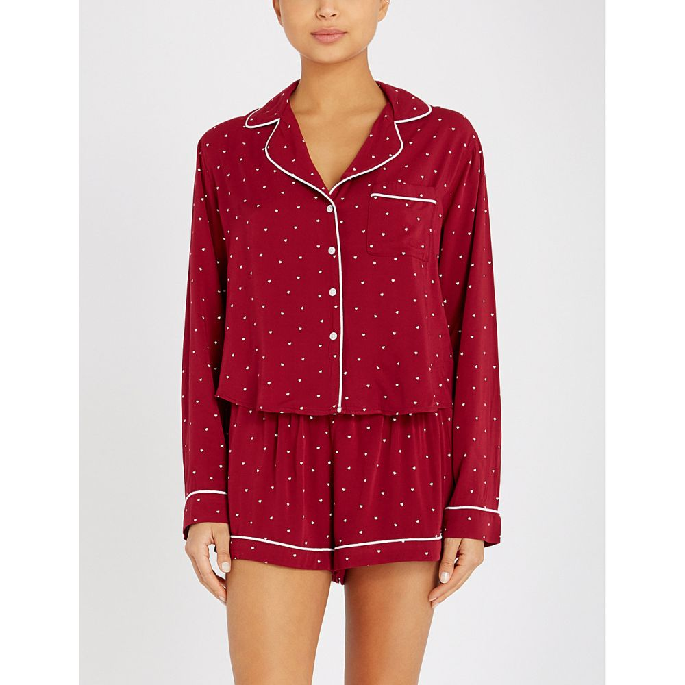 レイルズ rails レディース インナー・下着 パジャマ・上下セット【heart-print jersey pyjama set】Red mini hearts