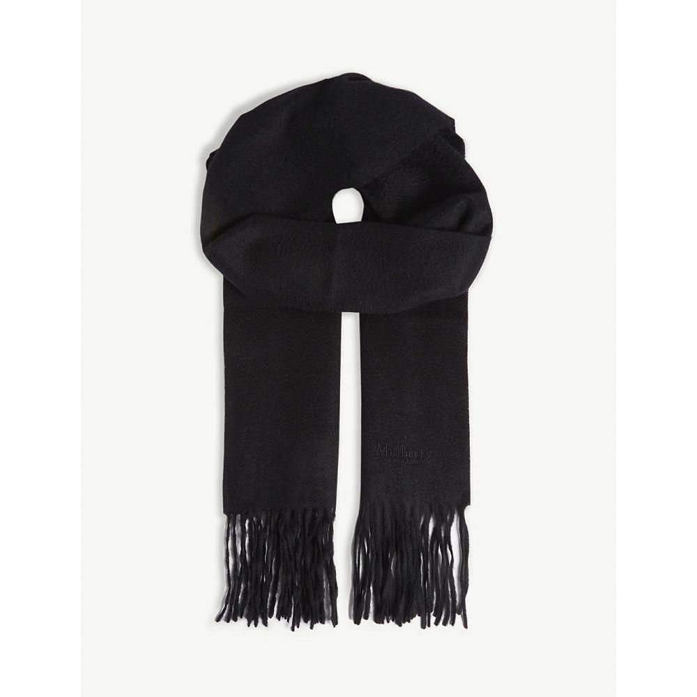 マルベリー mulberry レディース マフラー・スカーフ・ストール【cashmere scarf】Black