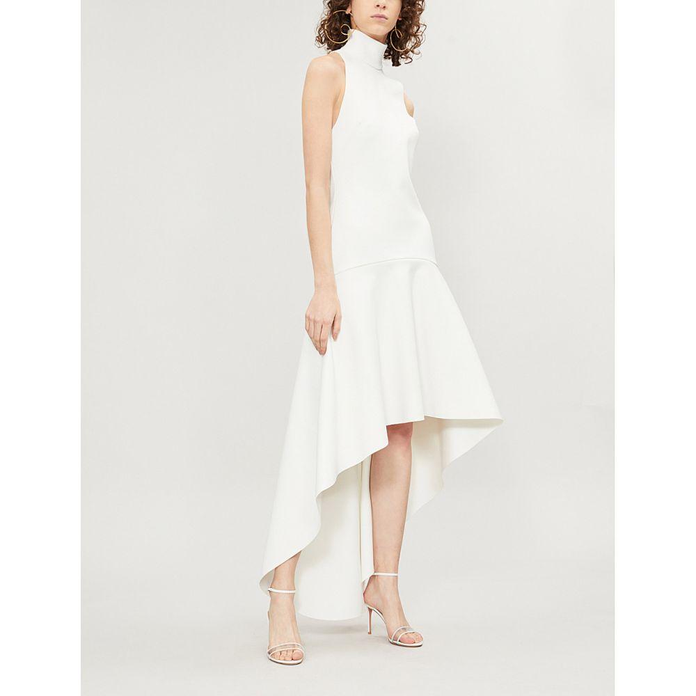 ソレス ロンドン solace london レディース ワンピース・ドレス パーティードレス【bahar flared-skirt crepe dress】Cream