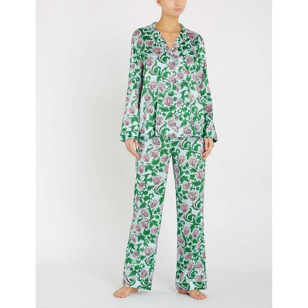 ヨーク yolke レディース インナー・下着 パジャマ・上下セット【marianne stretch-silk pyjama set】Marianne nettle sky