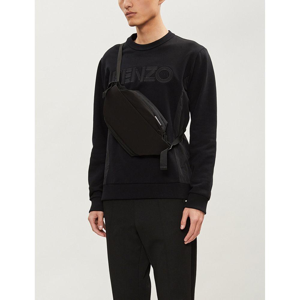 ケンゾー kenzo メンズ トップス スウェット・トレーナー【logo-applique cotton-jersey and shell sweatshirt】Black