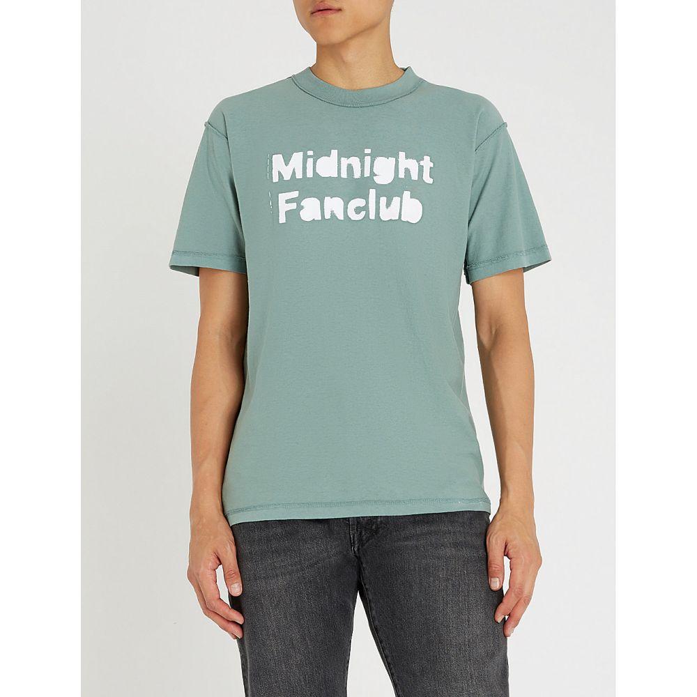 ミッドナイト スタジオ midnight studios メンズ トップス Tシャツ【logo-print cotton-jersey t-shirt】Olive