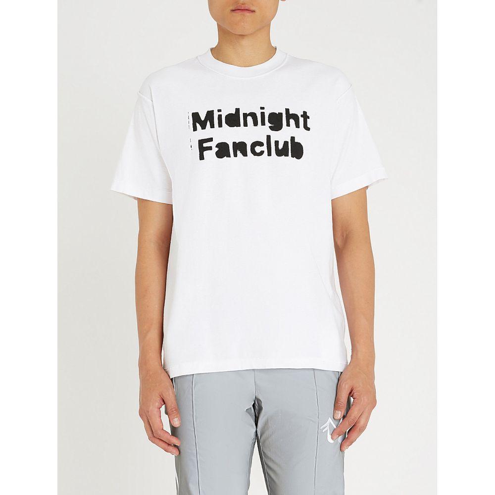 ミッドナイト スタジオ midnight studios メンズ トップス Tシャツ【logo-print cotton-jersey t-shirt】White