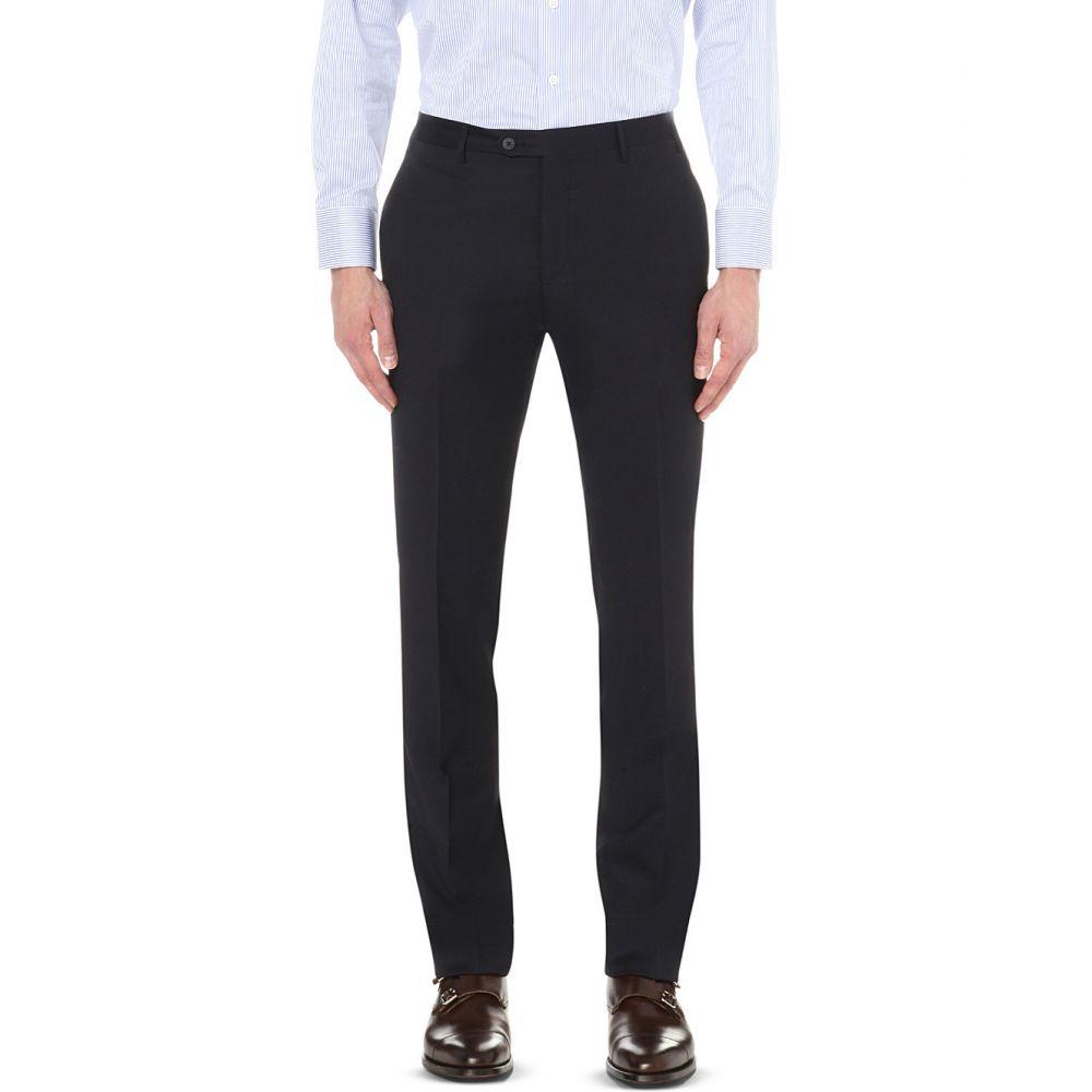 コルネリアーニ corneliani メンズ ボトムス・パンツ スラックス【regular-fit tapered wool trousers】Navy