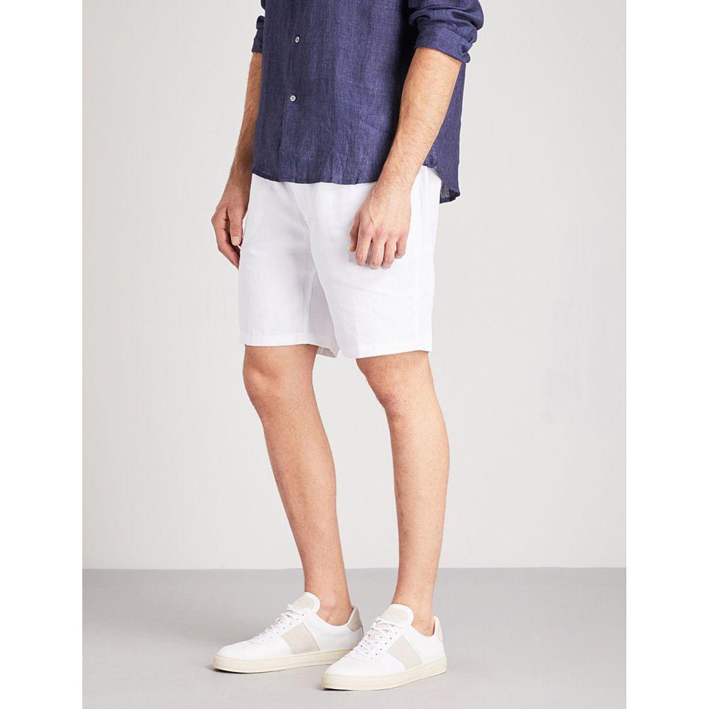 デリック ローズ derek rose メンズ インナー・下着 パジャマ・ボトムのみ【solid linen shorts】White
