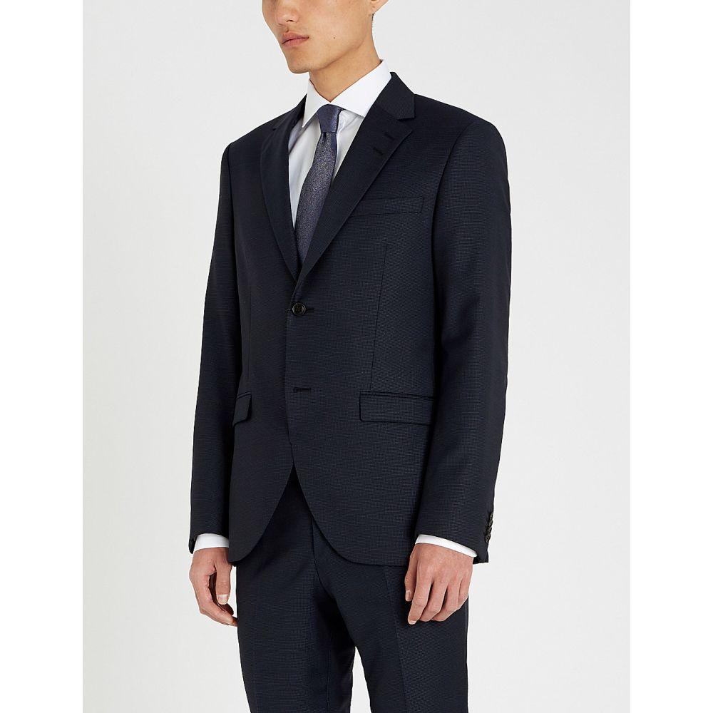 タイガー オブ スウェーデン tiger of sweden メンズ アウター スーツ・ジャケット【birdseye slim-fit wool suit】Navy