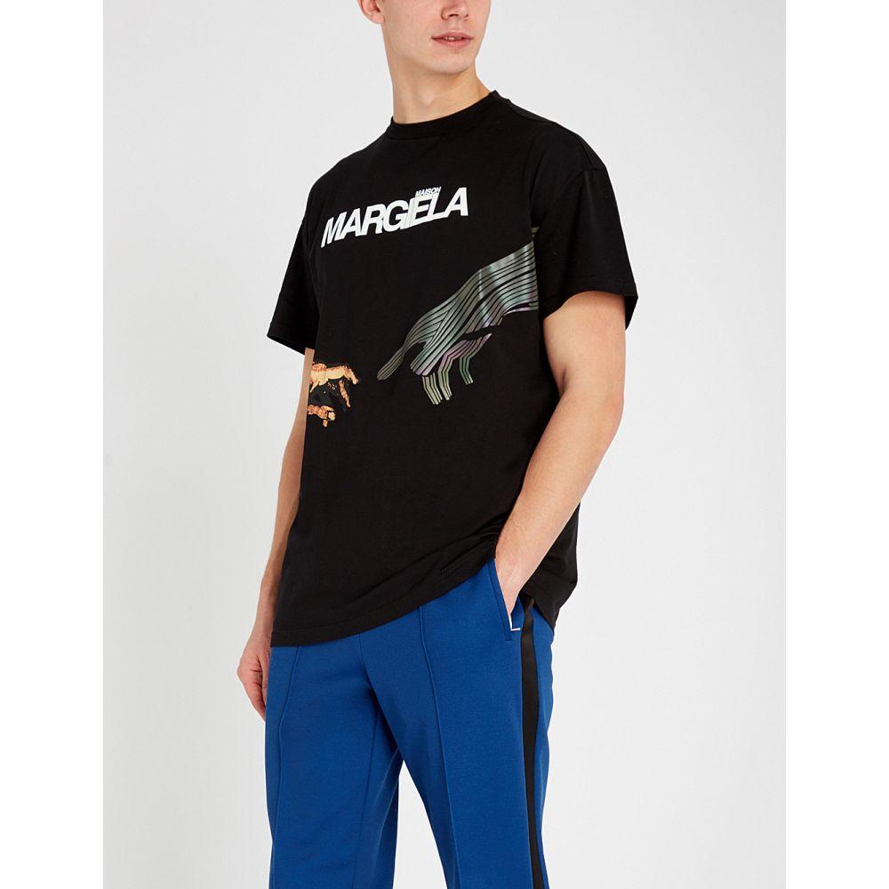 メゾン マルジェラ トップス maison メゾン margiela メンズ メンズ トップス Tシャツ【graphic-print cotton-jersey t-shirt】Black, ヒルカワムラ:34012024 --- m2cweb.com