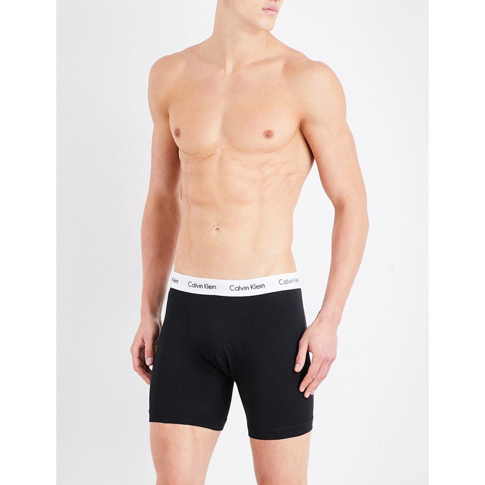 カルバンクライン calvin klein メンズ インナー・下着 ボクサーパンツ【pack of three slim-fit stretch-cotton trunks】Black