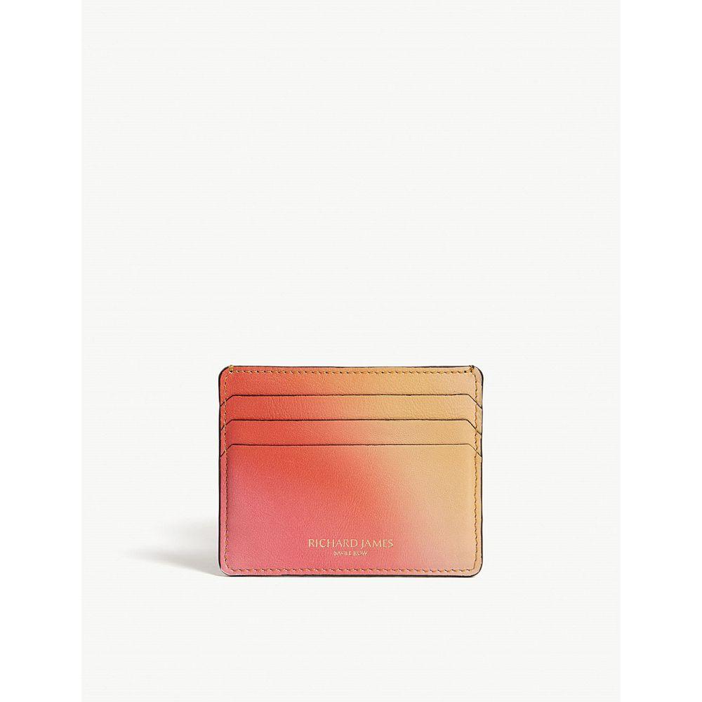 リチャード ジェームス richard james メンズ カードケース・名刺入れ【fade leather card holder】Coral/ amber