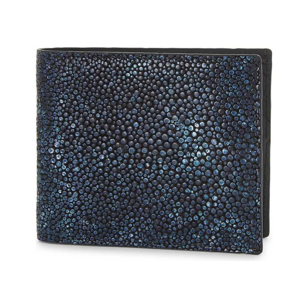 リチャード ジェームス richard james メンズ 財布【fade textured leather wallet】Blue