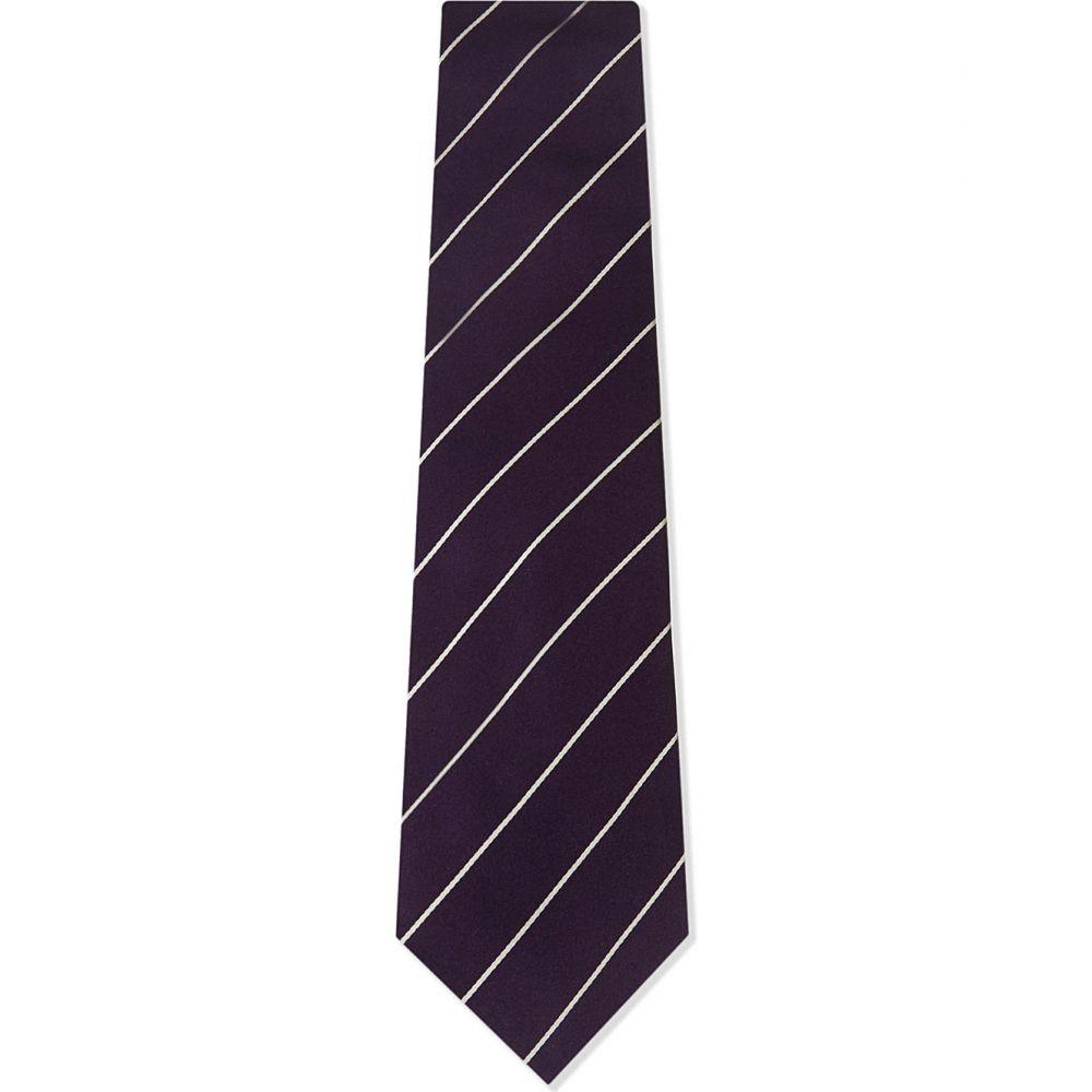 ラルフ ローレン polo ralph lauren メンズ ネクタイ【striped silk tie】Dark purple
