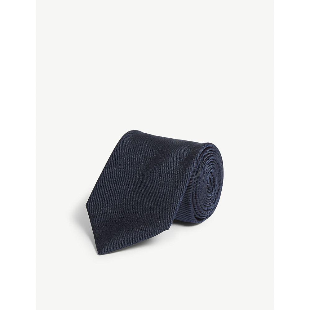 ラルフ ローレン polo ralph lauren メンズ ネクタイ【textured silk tie】Navy