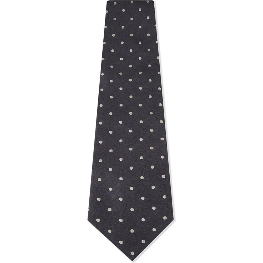 ラルフ ローレン polo ralph lauren メンズ ネクタイ【polka dot silk tie】Dark grey