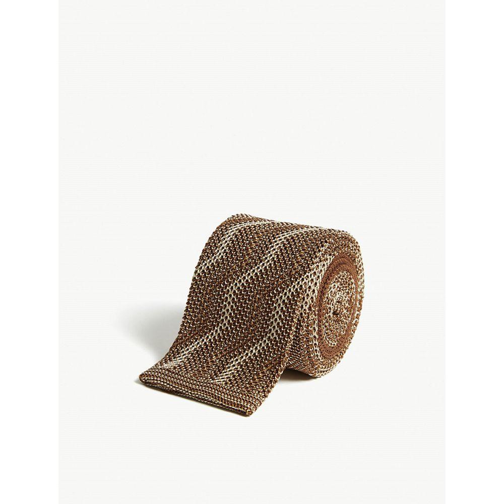 リチャード ジェームス richard james メンズ ネクタイ【squared-off zigzag knitted silk tie】Sand