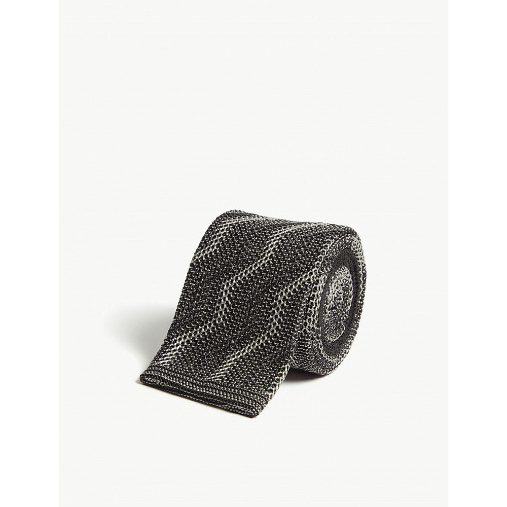 リチャード ジェームス richard james メンズ ネクタイ【squared-off zigzag knitted silk tie】Ash