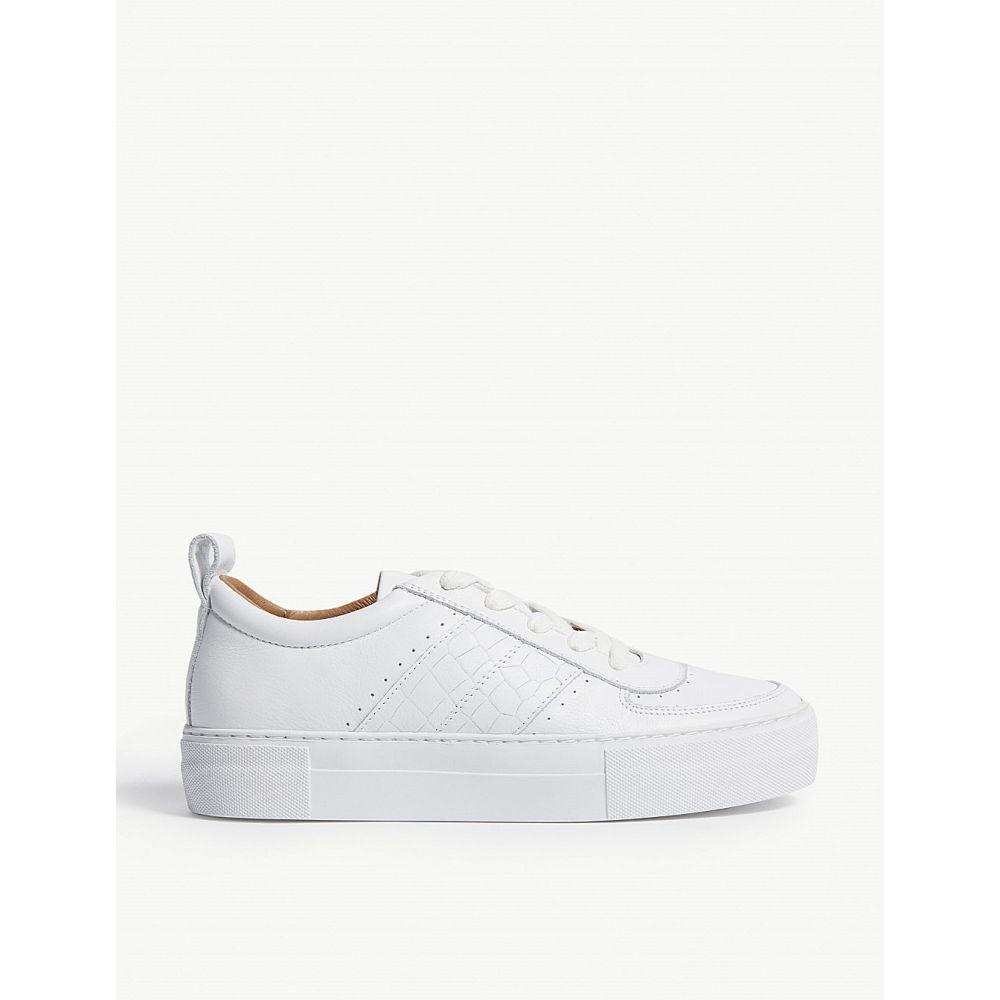 ホイッスルズ whistles レディース シューズ・靴 スニーカー【anna flatform leather trainers】White