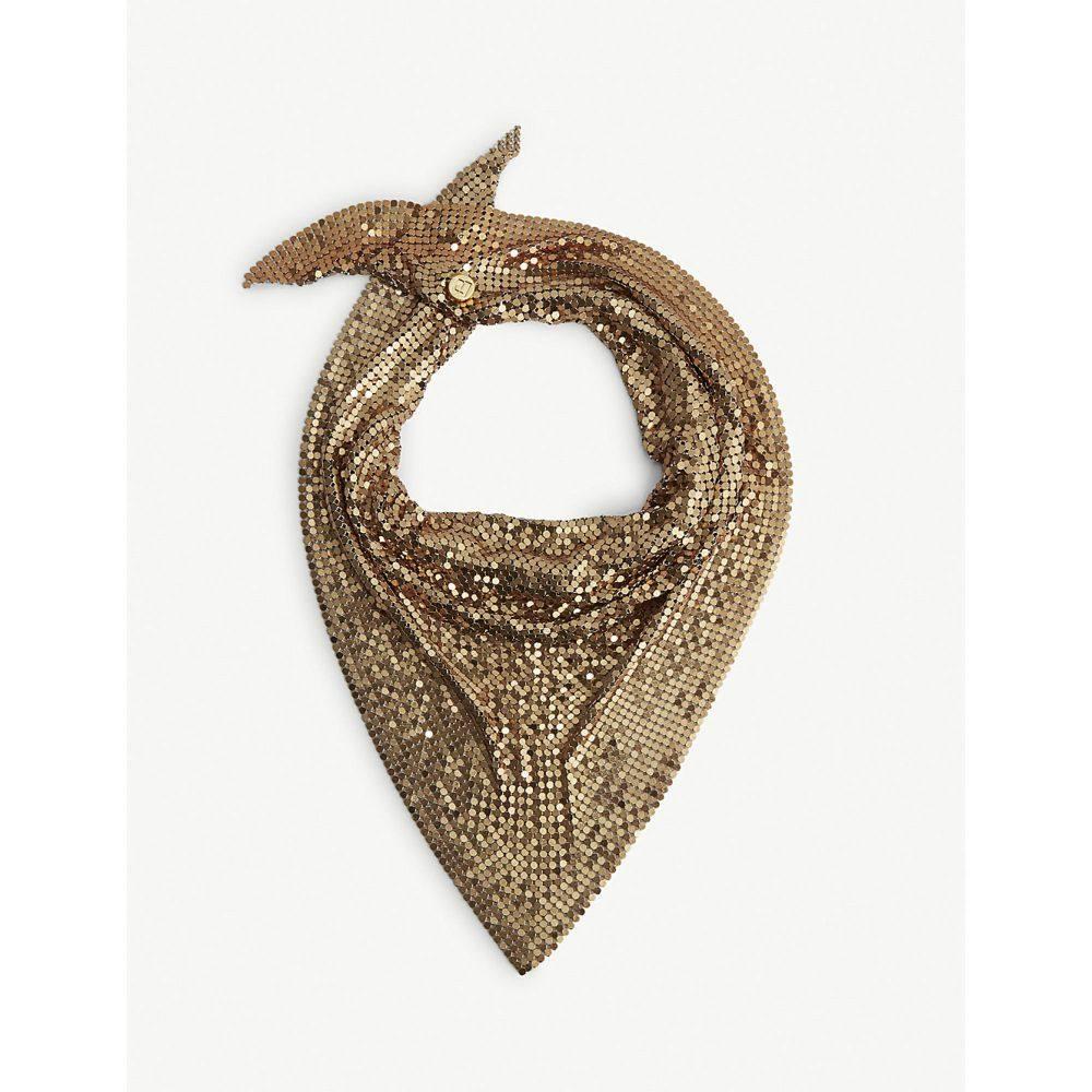 パコラバンヌ paco rabanne レディース マフラー・スカーフ・ストール【mesh scarf】Gold
