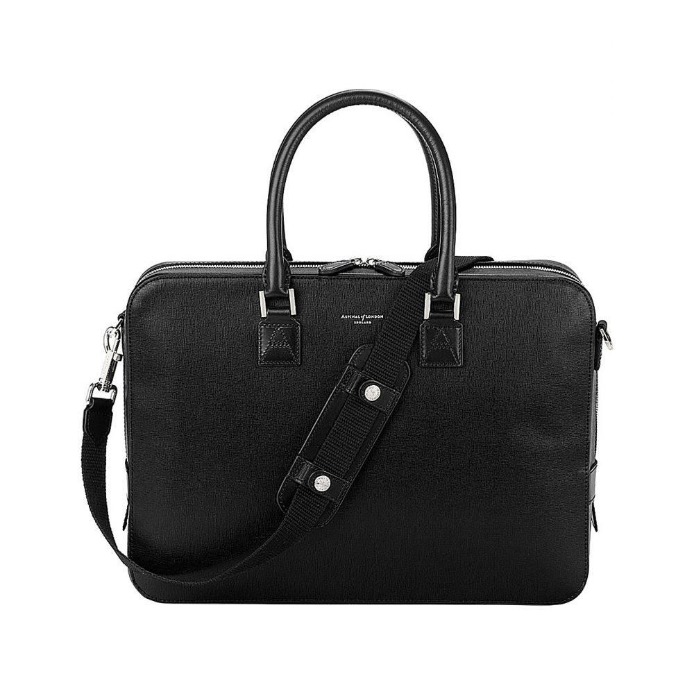 アスピナル オブ ロンドン aspinal of london レディース バッグ パソコンバッグ【mount street small leather laptop bag】Black