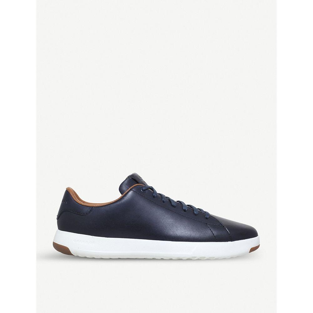 コールハーン cole haan メンズ テニス シューズ・靴【grandpro leather tennis trainers】Navy