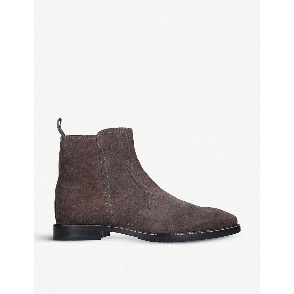 カート ジェイガー kurt geiger london メンズ シューズ・靴 ブーツ【bournemouth suede ankle boots】Grey