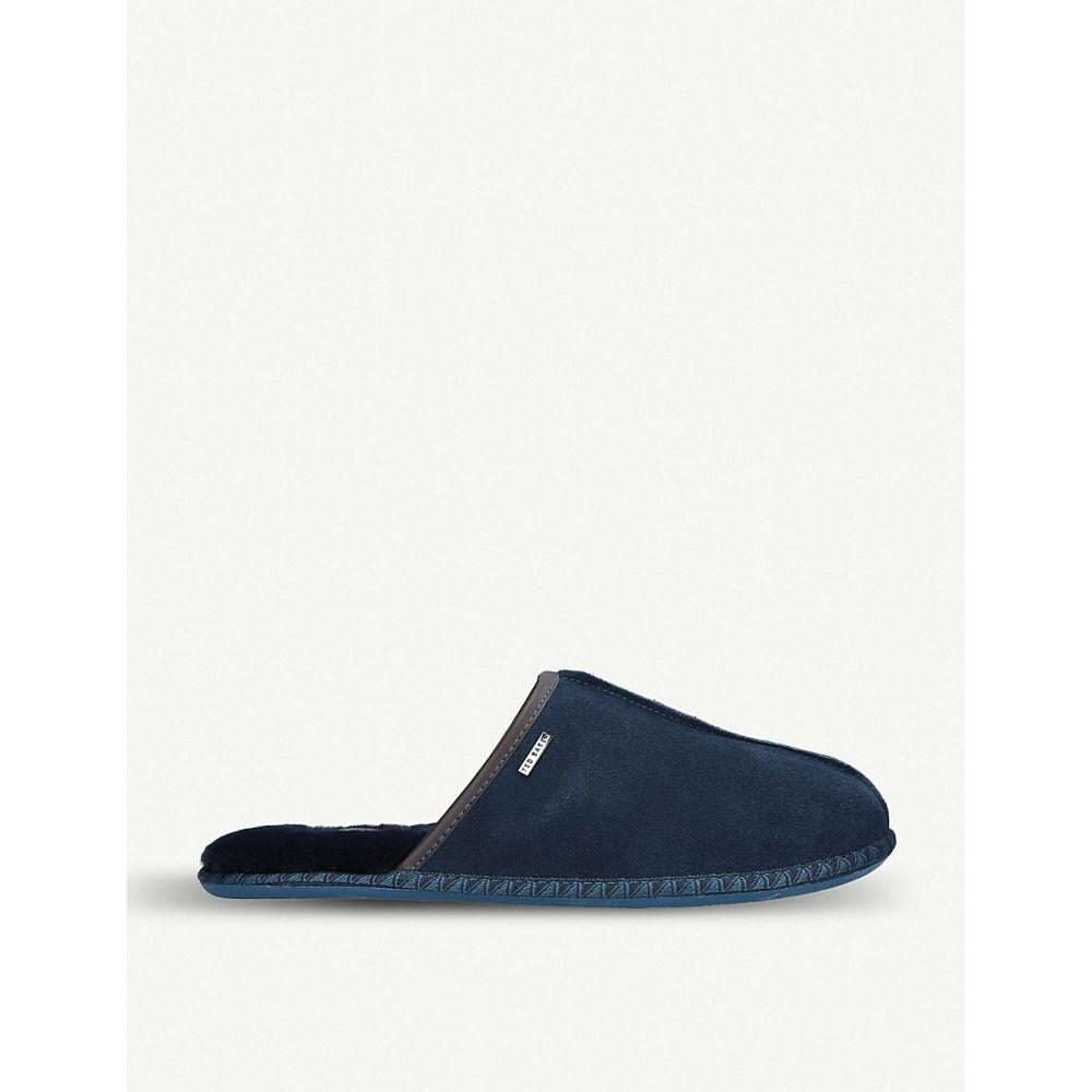 テッドベーカー ted baker メンズ シューズ・靴 スリッパ【parick suede slippers】Blue/dark