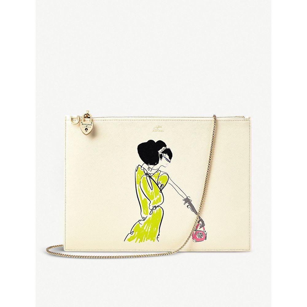 アスピナル オブ ロンドン aspinal of london レディース バッグ クラッチバッグ【giles x aspinal soho printed leather clutch bag】Ivory