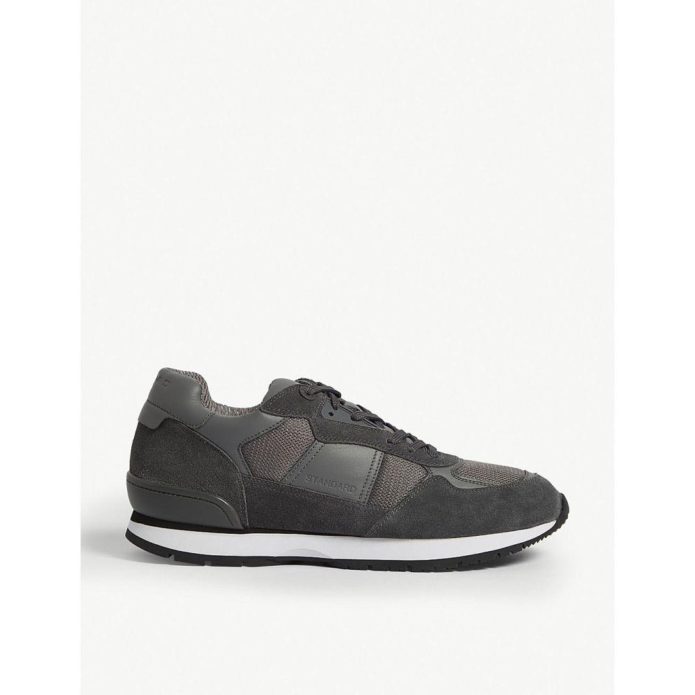 サンドロ sandro メンズ ランニング・ウォーキング シューズ・靴【suede running trainers】Grey